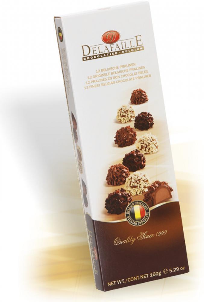 Delafaille 12 Finest Belgian Chocolate Pralines 150g