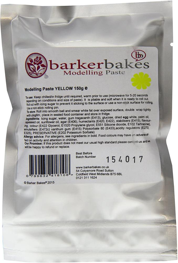 Barker Bakes Sugar Modelling Paste Yellow 150g