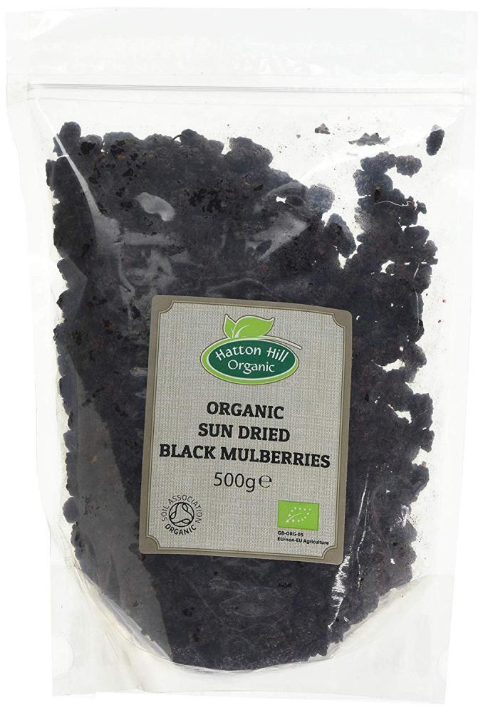 Hatton Hill Organic Organic Sun Dried Black Mulberries 500 g