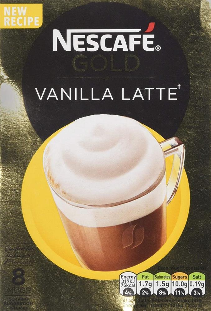 Nescafe Gold Latte Vanilla Coffee 8 Sachets