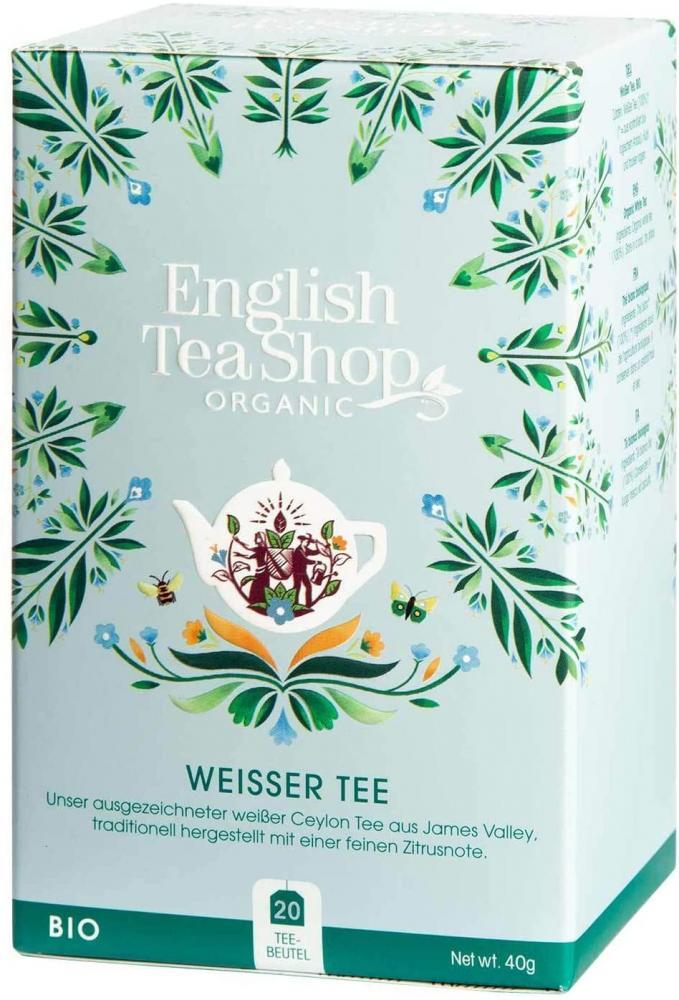 English Tea Shop Organic Pure White Tea 20 Tea Bag Sachets