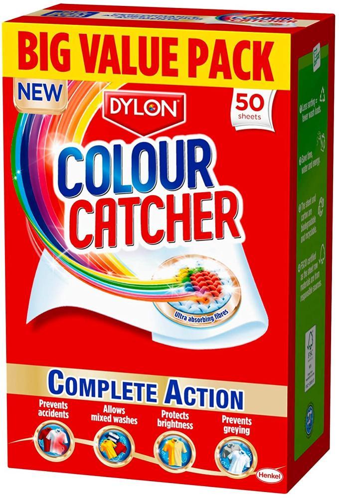 Dylon Colour Catcher Complete Action Laundry Sheets 50 Sheets Damaged Box