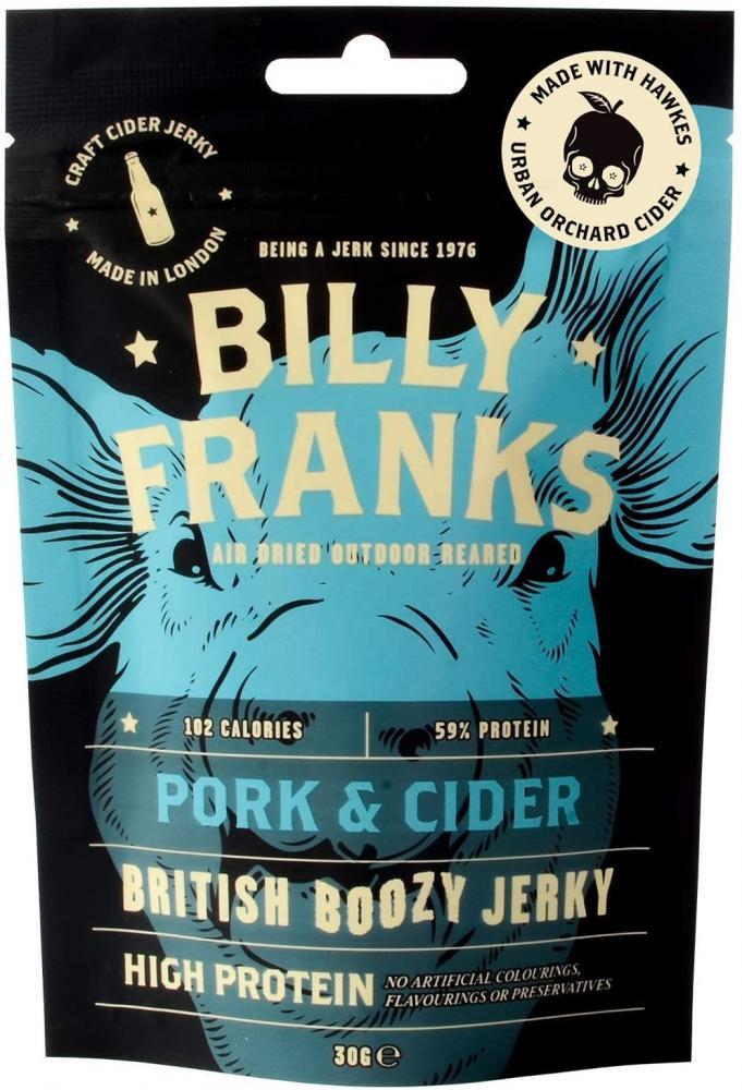 SALE  Billy Franks Pork and Cider British Boozy Jerky 30g