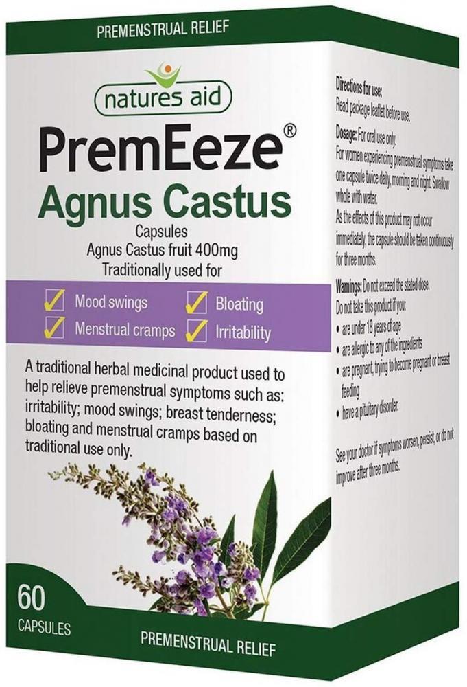 Natures Aid 400 mg PremEeze Agnus Castus 60 Capsules