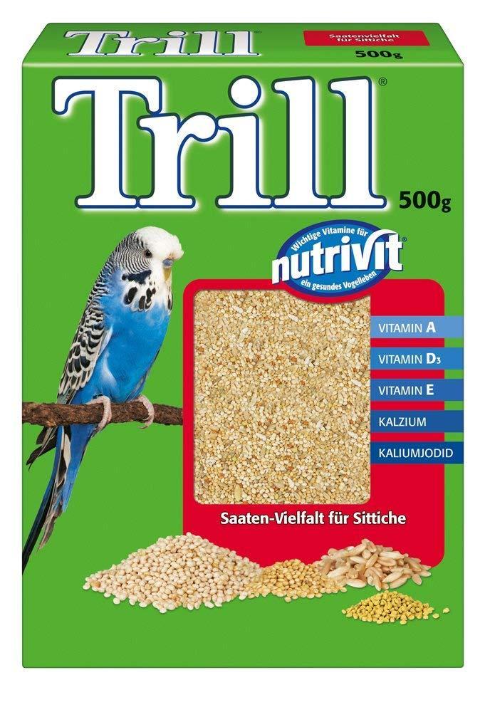 WEEKLY DEAL  Trill Budgie Seed Nutrivit Budgerigar Bird Food 500g