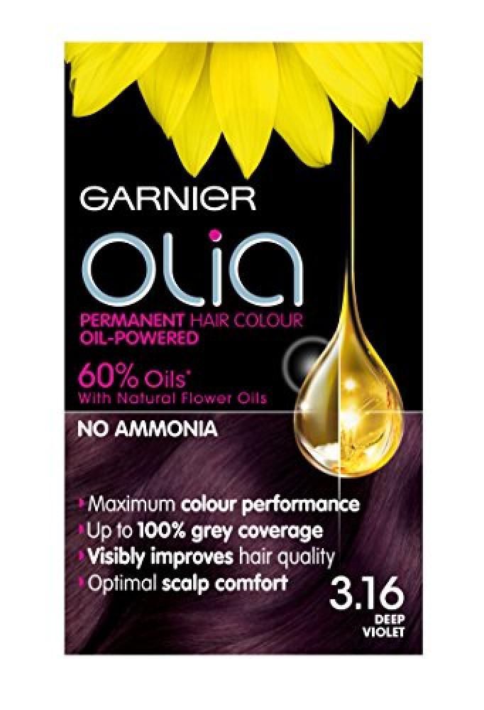 Garnier Olia Permanet Hair Colour 3.16 Deep Violet