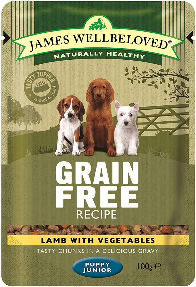James Wellbeloved Complete Wet Grain Free Puppy Food Lamb 100g