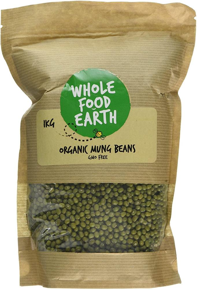Whole Food Earth Organic Mung Beans 1 kg