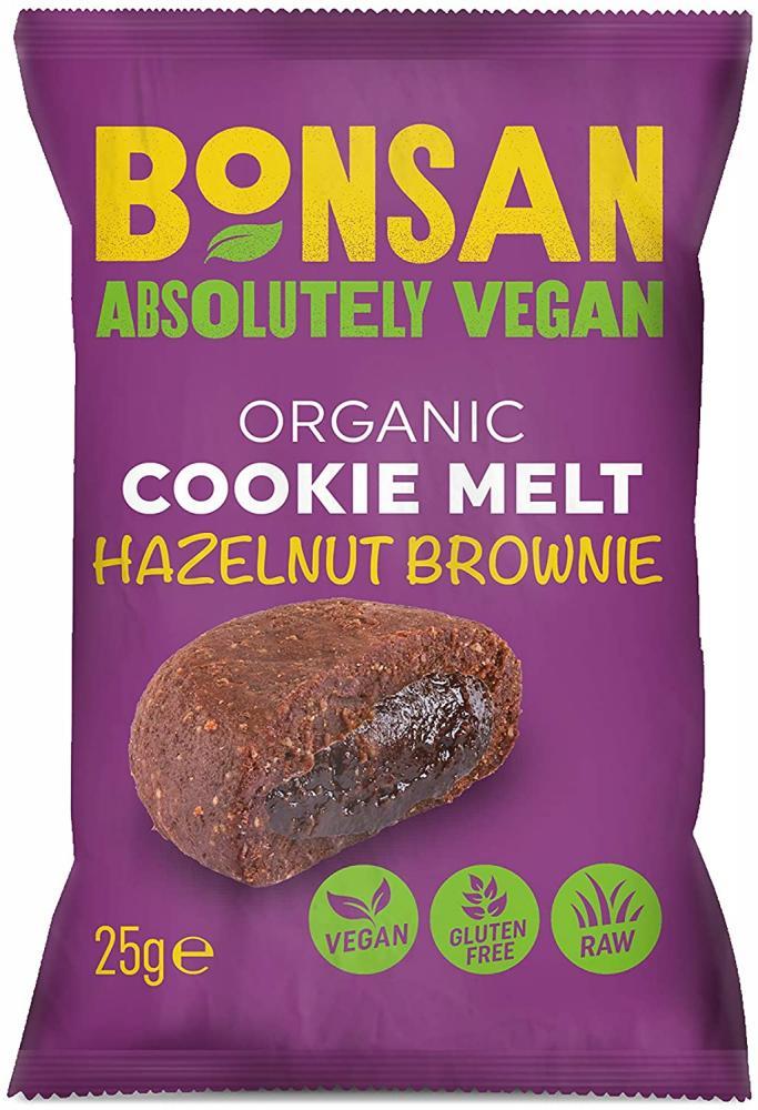 Bonsan Organic Vegan Cookie Melt Hazelnut Brownie 25g