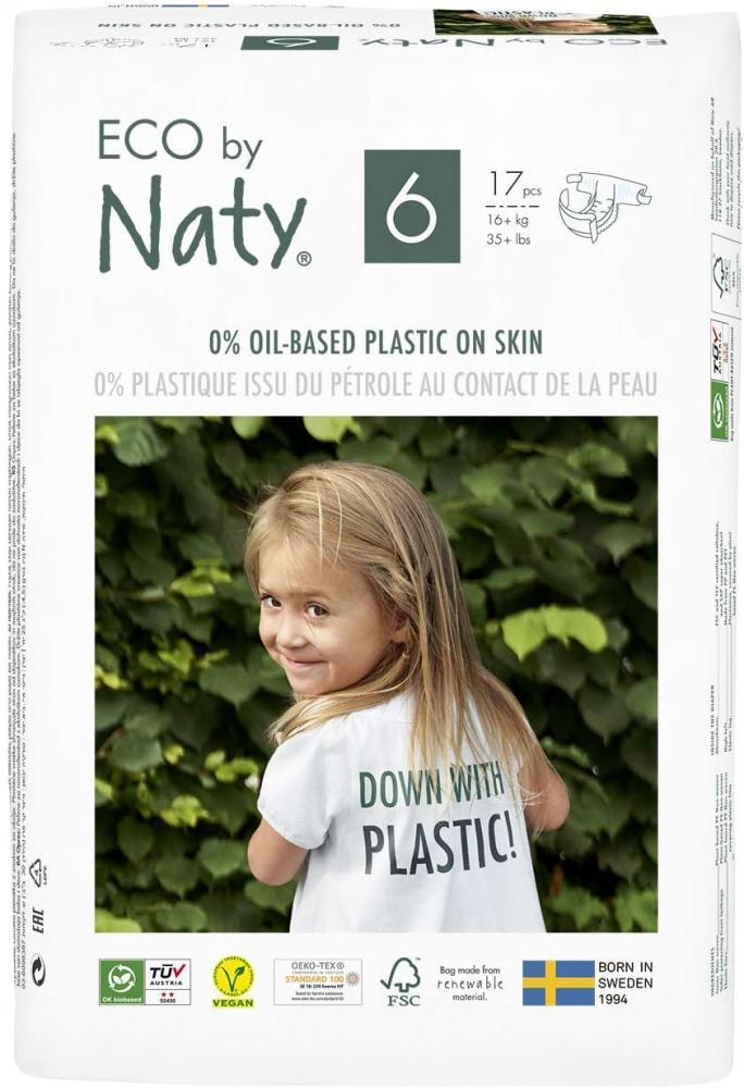 ECO by Naty Size 6 16 kg Plant-Based Premium Ecological Nappy 17 pcs