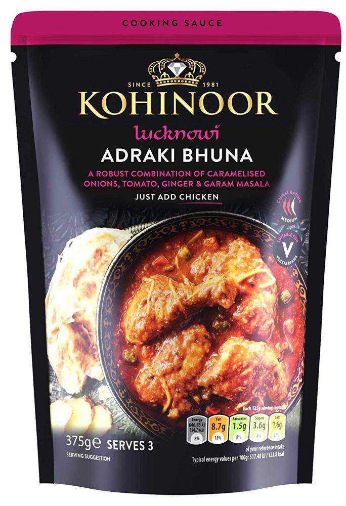 Kohinoor Lucknow Adraki Bhuna Cooking Sauce 375g