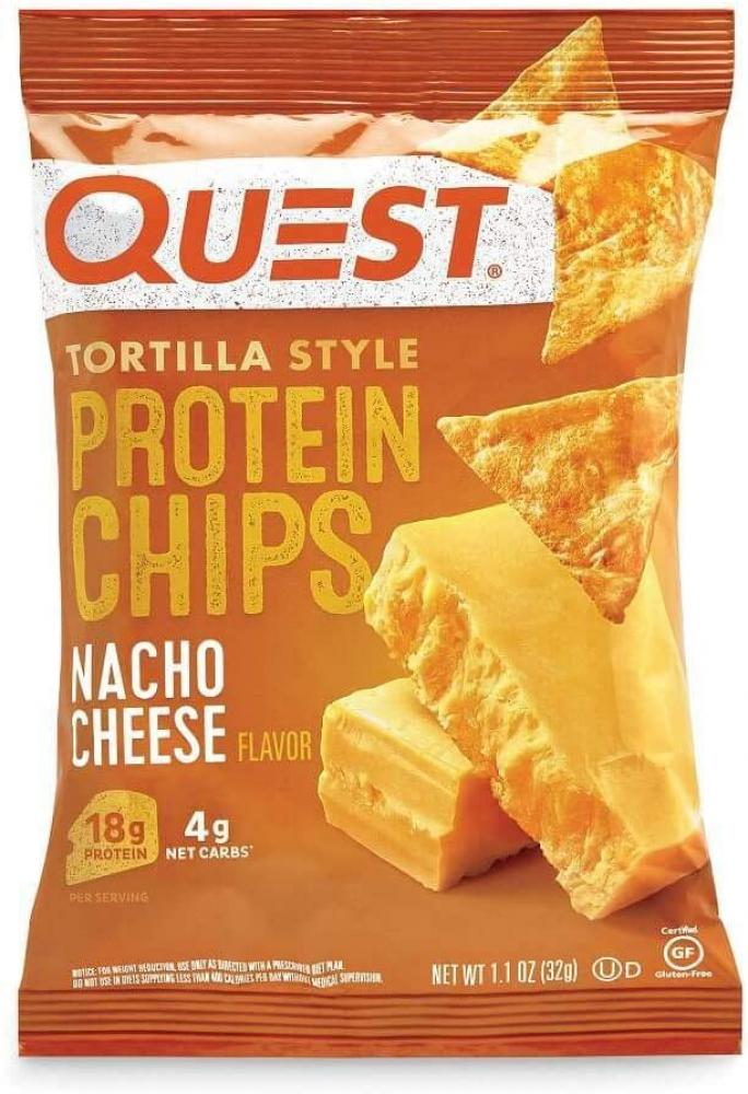 Quest Nutrition Tortilla Style Protein Chips Nacho Cheese 32 g