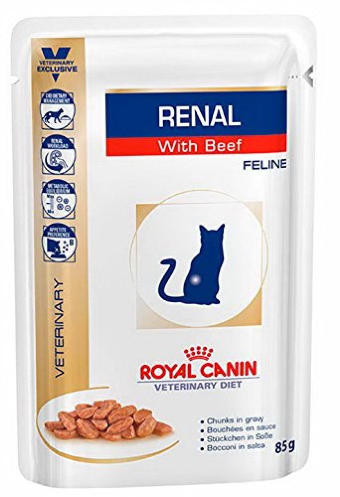 Royal Canin Renal Feline Beef Cat Food 85 g