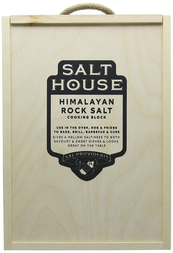 Salt House Rectangle Himalayan Salt Block with Presentation Box Damaged Box