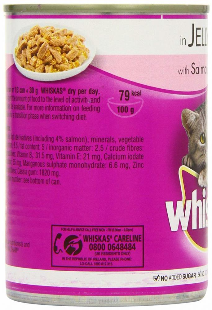 Whiskas Fish In Jelly Selection Lucky Dip 390g