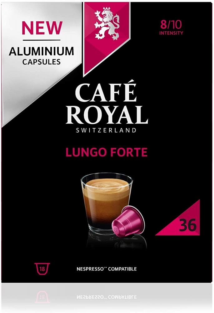 Cafe Royal Lungo Forte 36 Nespresso Compatible Aluminium Coffee Pods