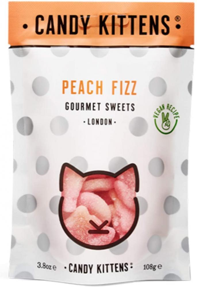 Candy Kittens Peach Fizz Vegan Sweets 108g