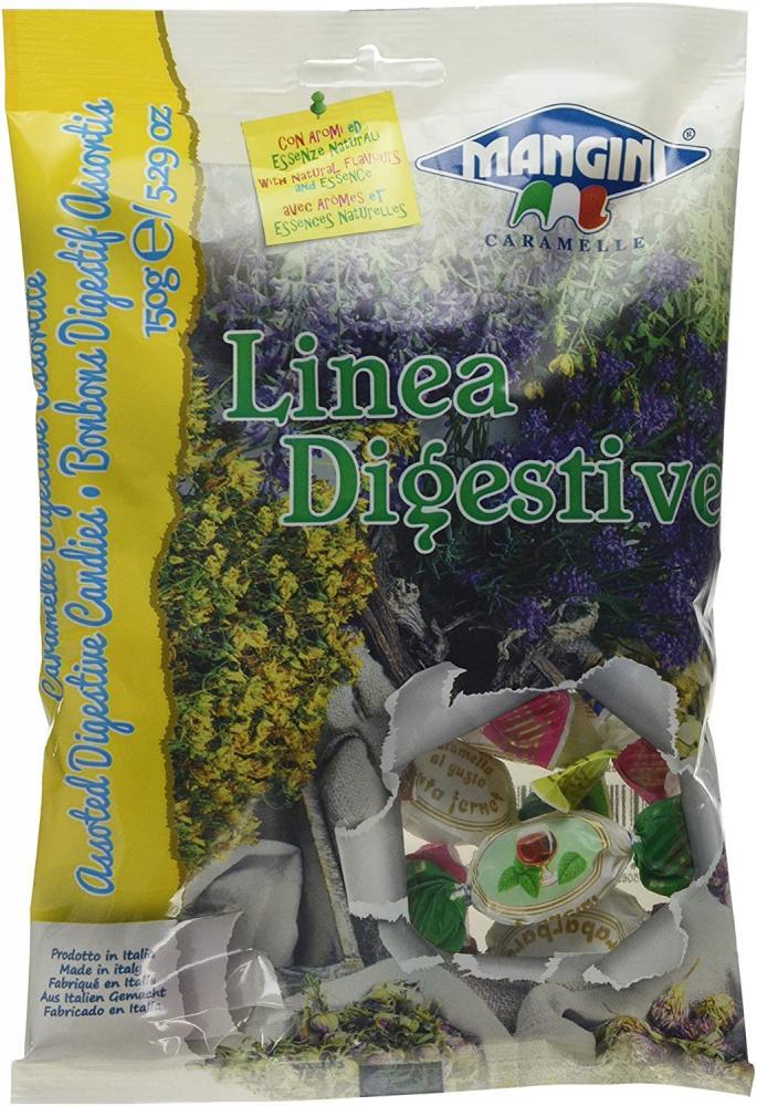 Mangini Rabarbarone Traditional Digestive Candies 150g