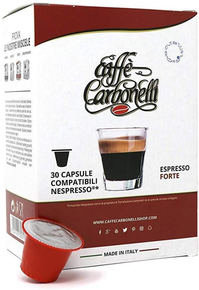 Caffe Carbonelli Espresso Forte Lavazza A Modo Mio Capsules 30 Capsules