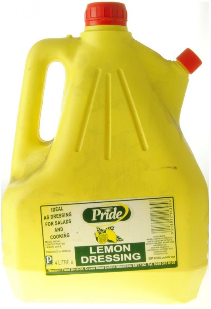 Pride Lemon Dressing 4 Litre