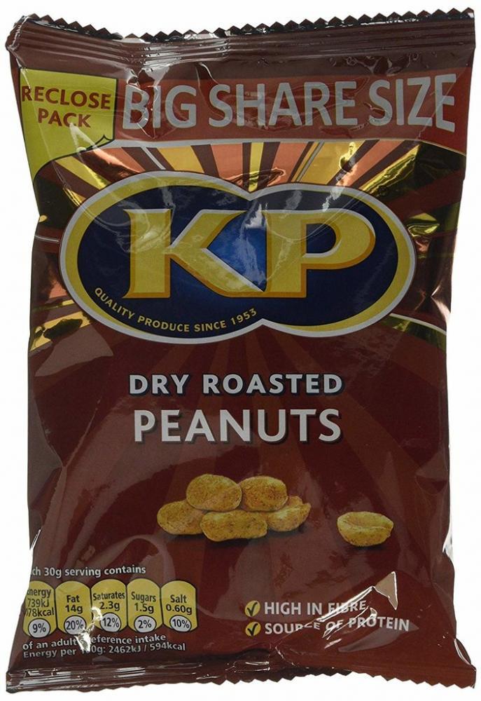 Kp Dry Roasted Peanuts 415g