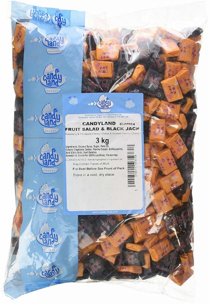 Candyland Black Jack and Fruit Salad Chews 3kg