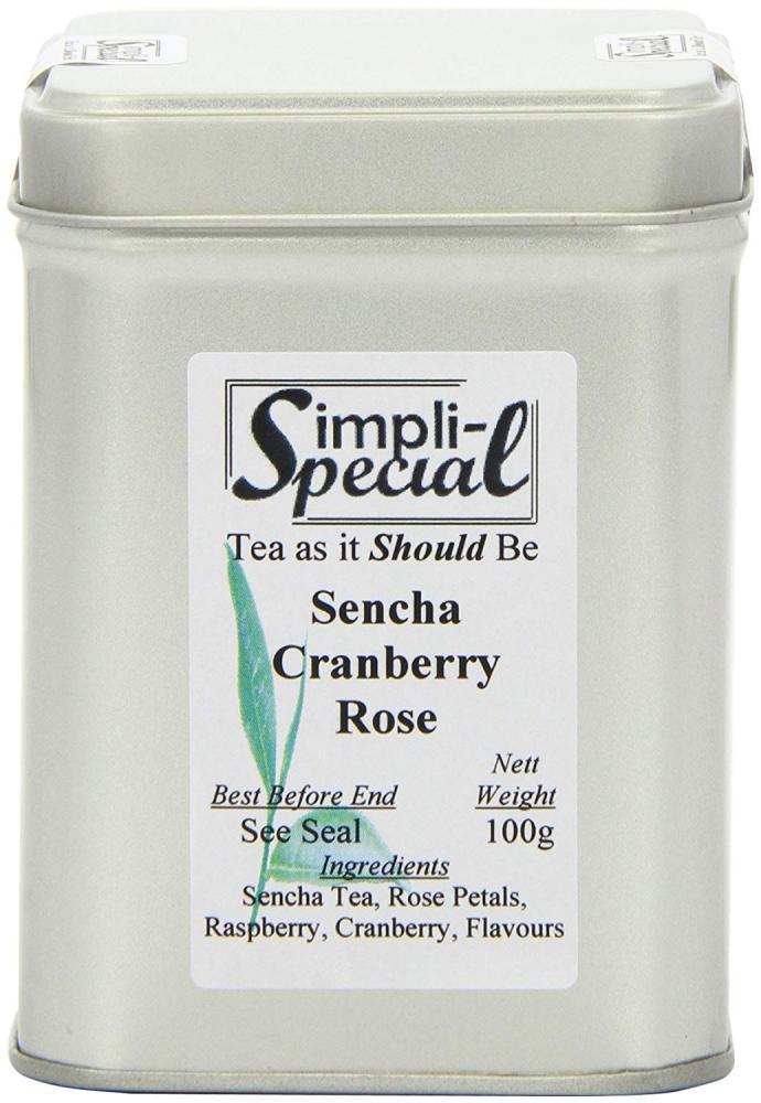 Simpli-Special Sencha Cranberry Rose Luxury Loose Leaf Tea in Gift Caddy 100g