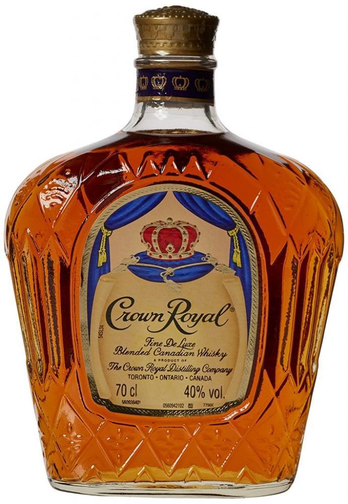 Crown Royal Blended Canadian Whiskey Bottle 70cl Damaged Box