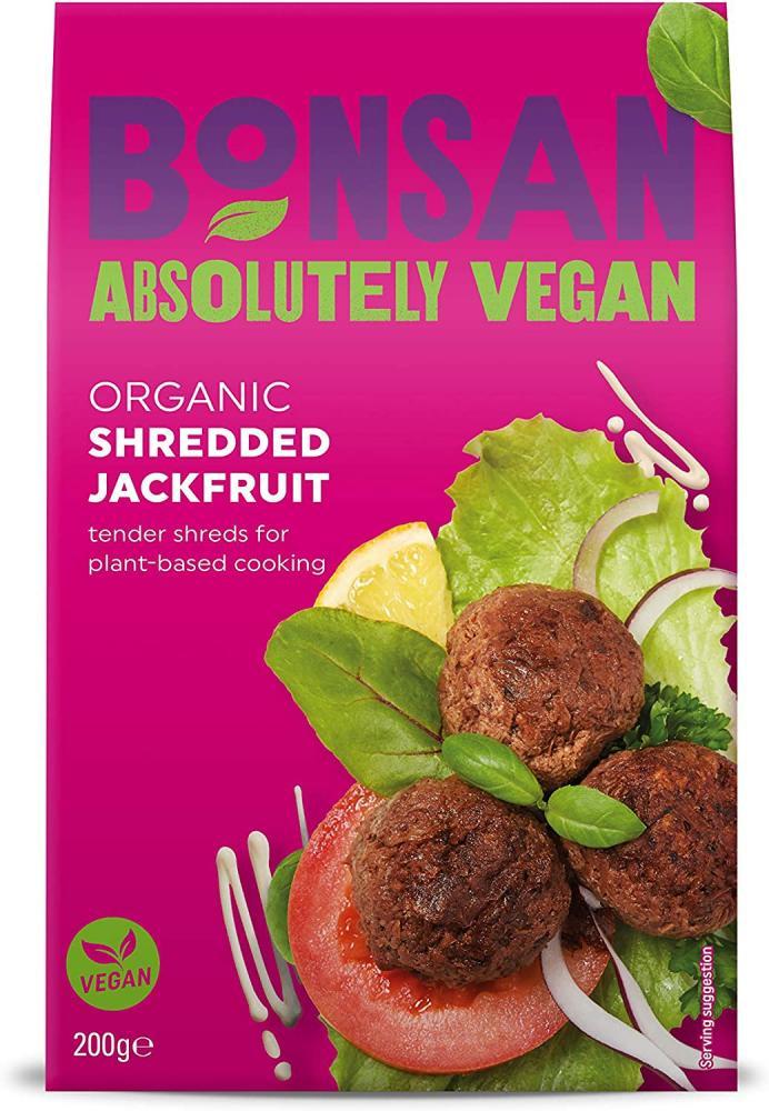 Bonsan Organic Vegan Plain Shredded Jackfruit 200 g
