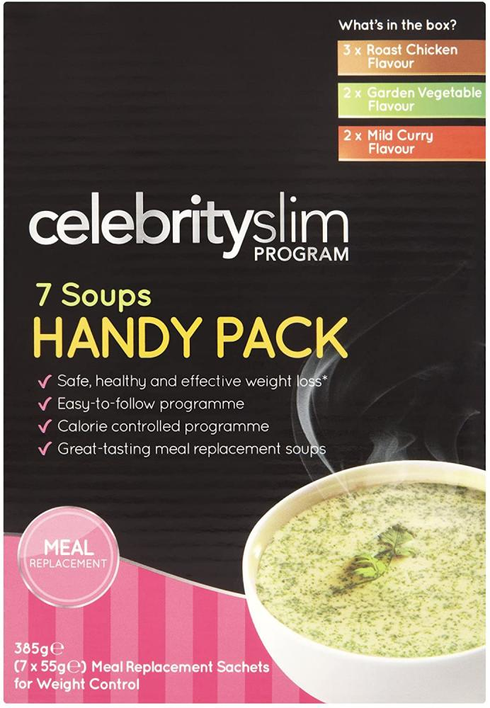 Celebrity Slim Handy Pack Assorted Soups 7 Sachet Pack 7x55g