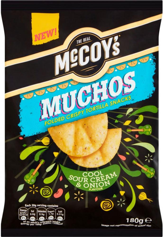 Mccoys Muchos Cool Sour Cream and Onion Flavour 180g