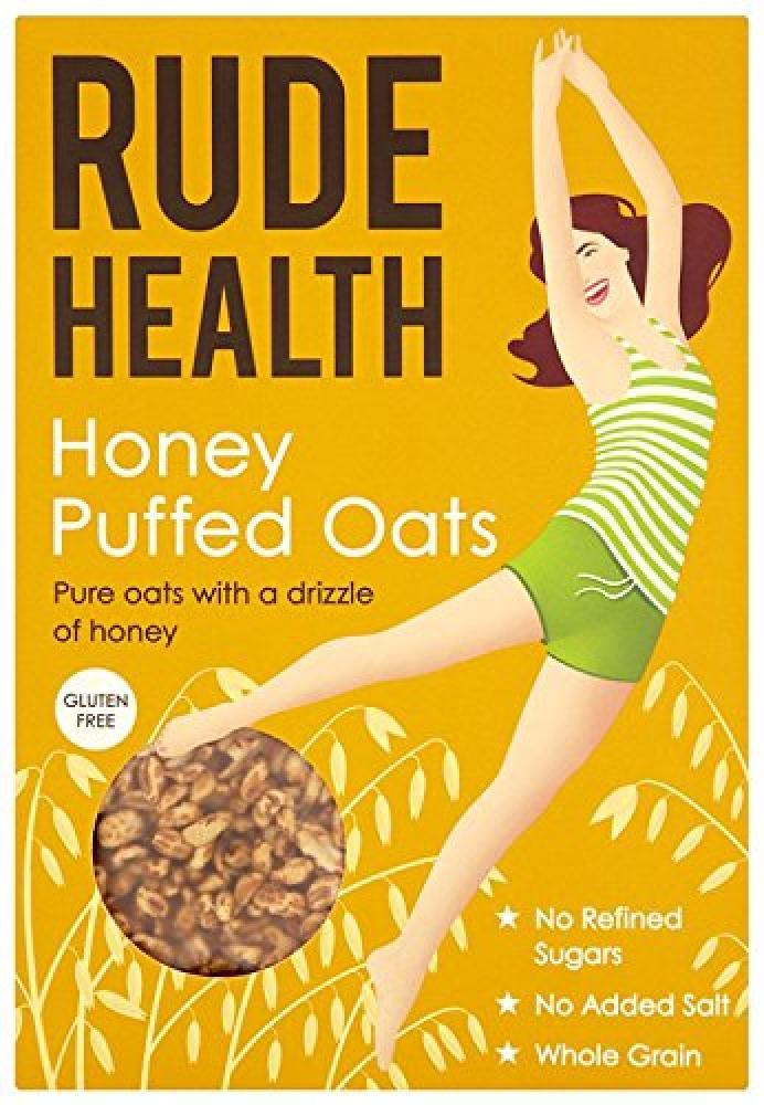 Rude Health Honey Puffed Oats Gluten Free Cereal 240 g