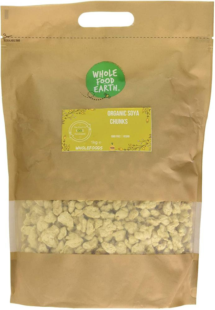 Whole Food Earth Organic Soya Chunks 1Kg