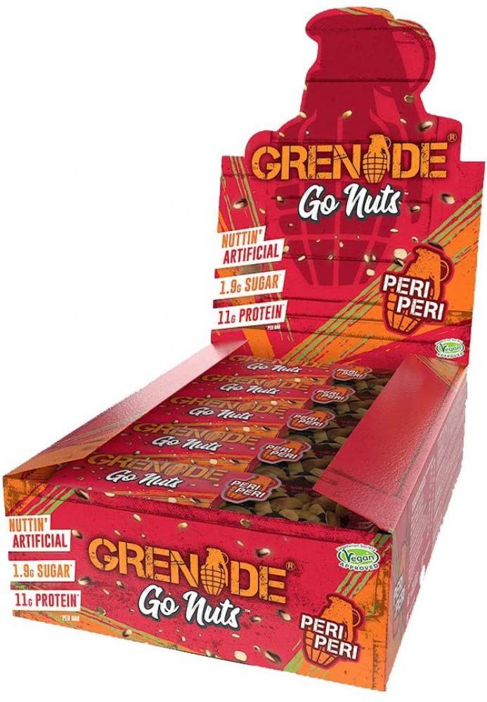 SALE CASE PRICE  Grenade Go Nuts Peri Peri 15 x 40g