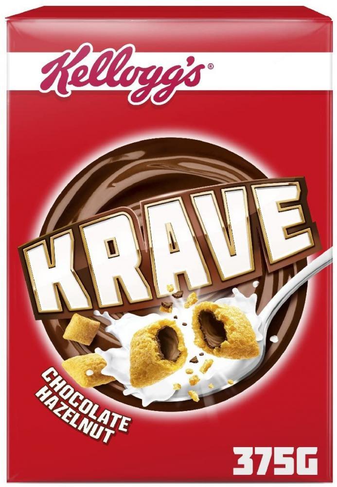 Kelloggs Krave Chocolate Hazelnut Cereal 375g