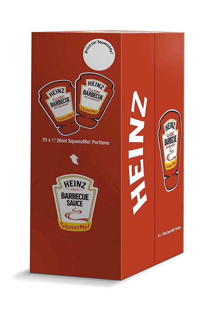Heinz Classic BBQ Sauce SqueezMe portions 70 x 26ml