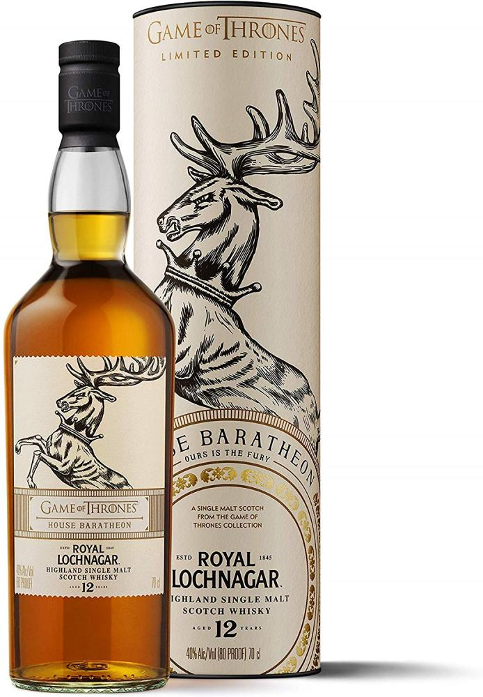 Royal Lochnagar 12 Year Old Single Malt Scotch WhiskyHouse Baratheon Game of Thrones Limited Edition 700ml
