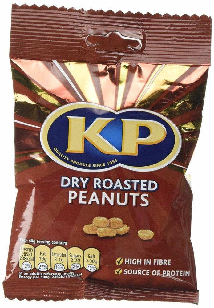 Kp Dry Roasted Peanuts 80g