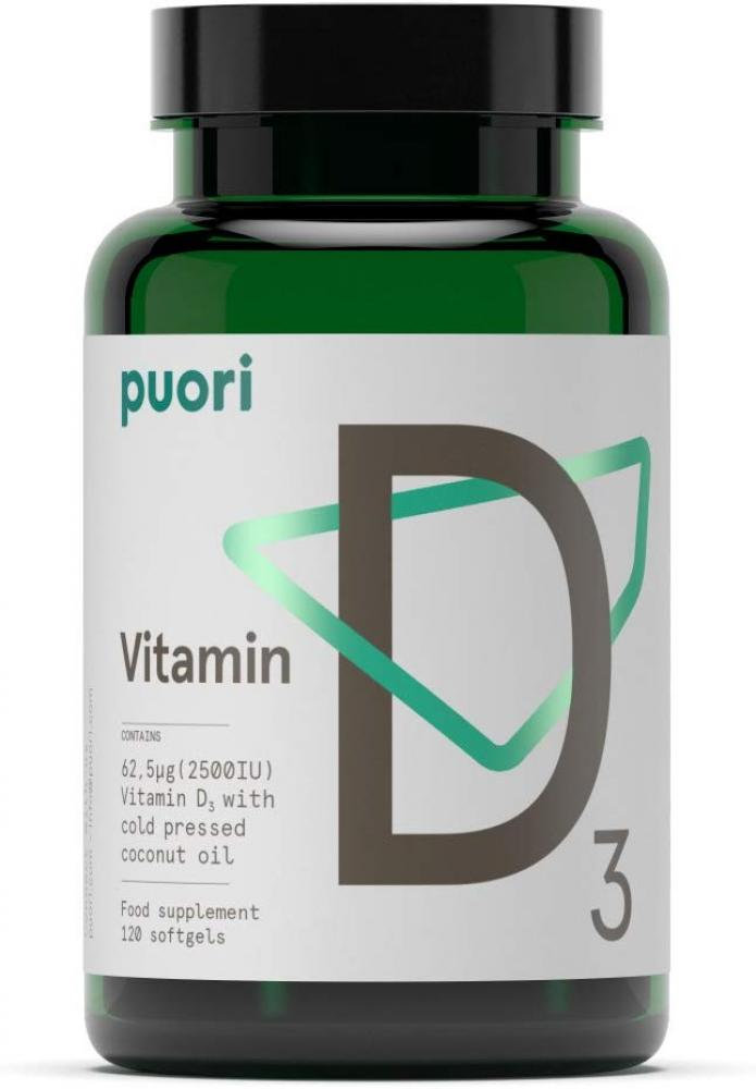 Puori Vitamin D3 120 Softgels