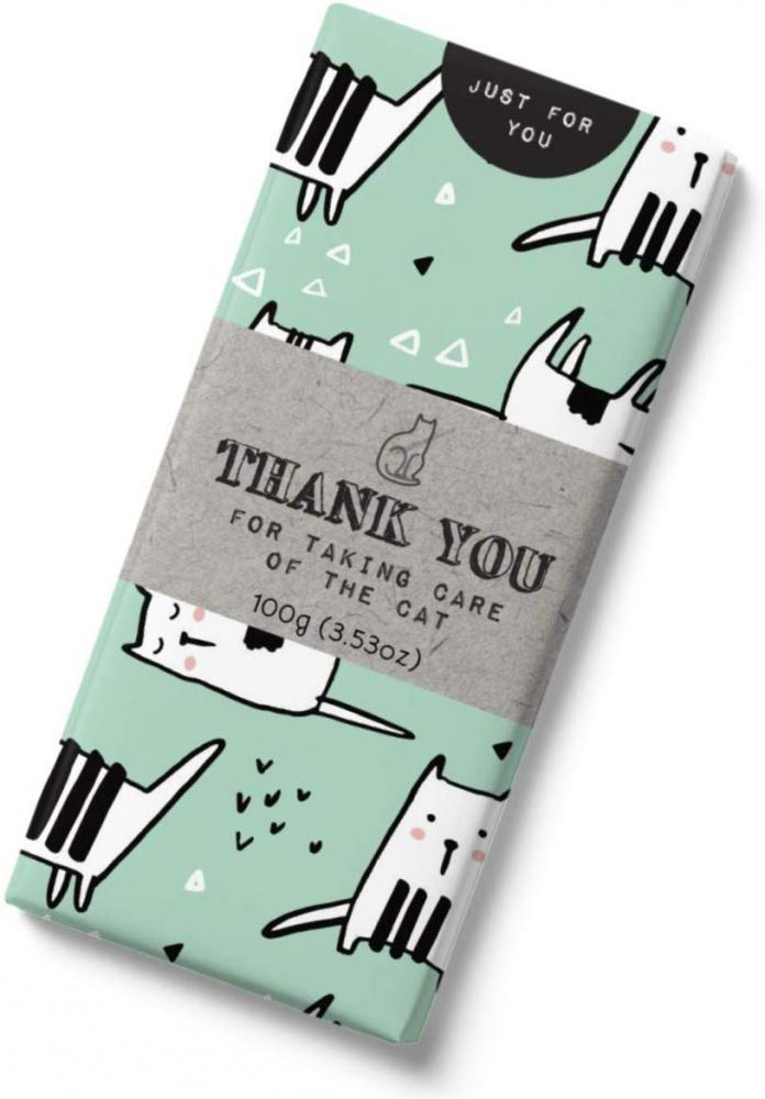 Message Thanks For Looking After The Cat Milk Chocolate Bar 100 g