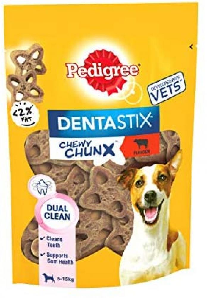 Pedigree Dentastix Chewy Chunx Mini Dog Treat Beef Flavour 68g