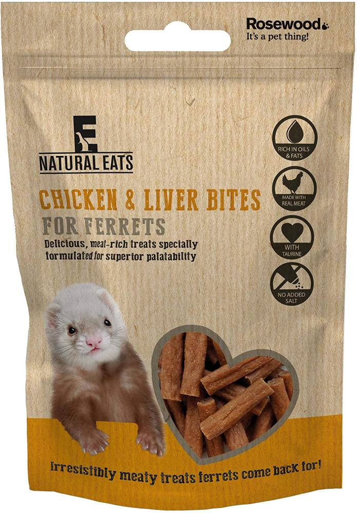 SALE  Rosewood Natural Eats Chicken and Liver Ferret Bites for Ferrets 50g