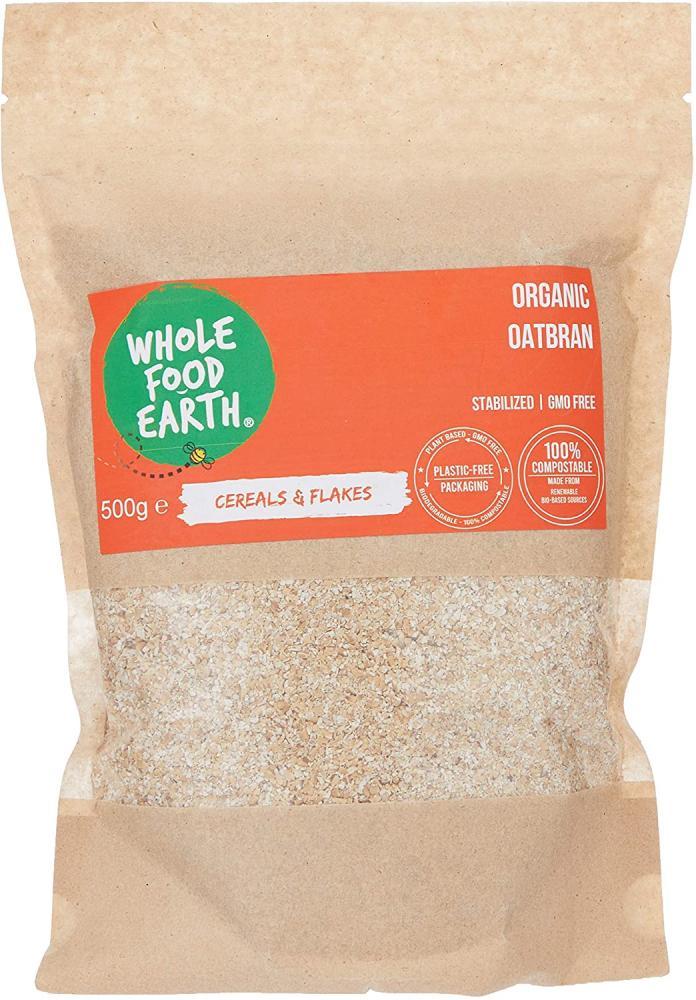 Whole Food Earth Organic Oatbran 500g