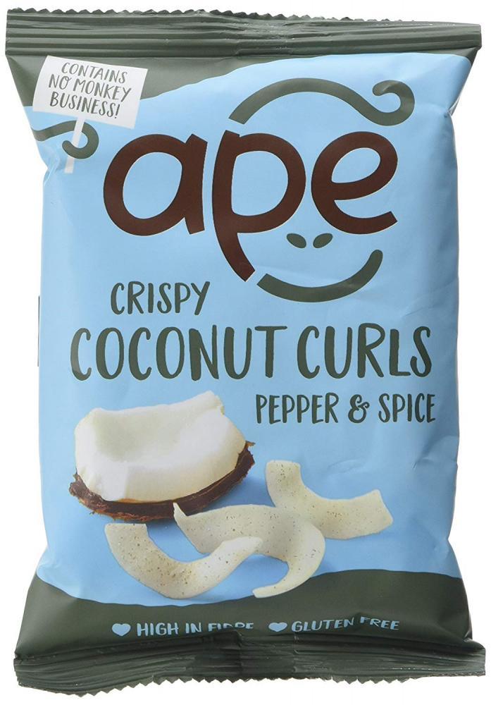 Ape Snacks Crispy Coconut Curls Slightly Peppered 20g