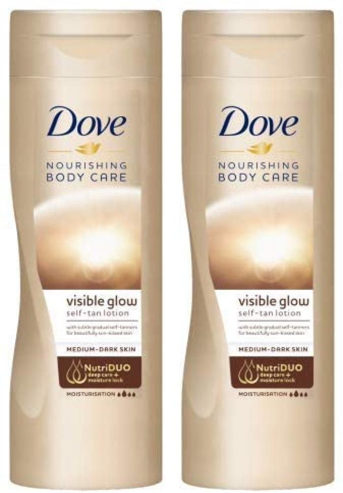 Dove Summer Glow Gradual Self Tan Body Lotion Medium To Dark 400ml
