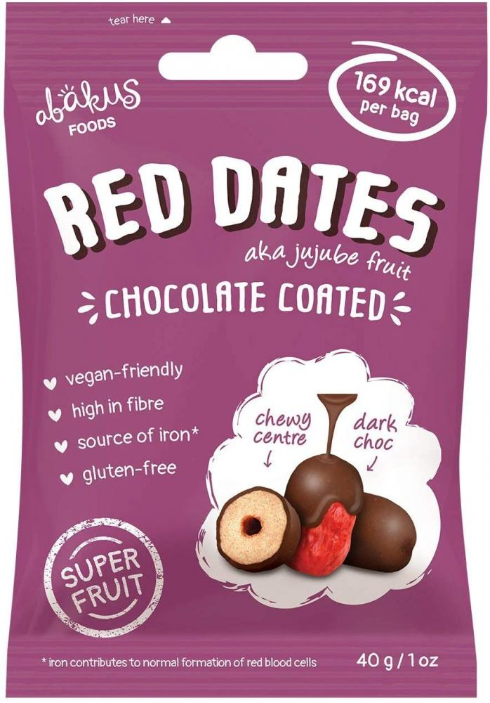 Abakus Foods Red Dates Chocolate Coated 40 g