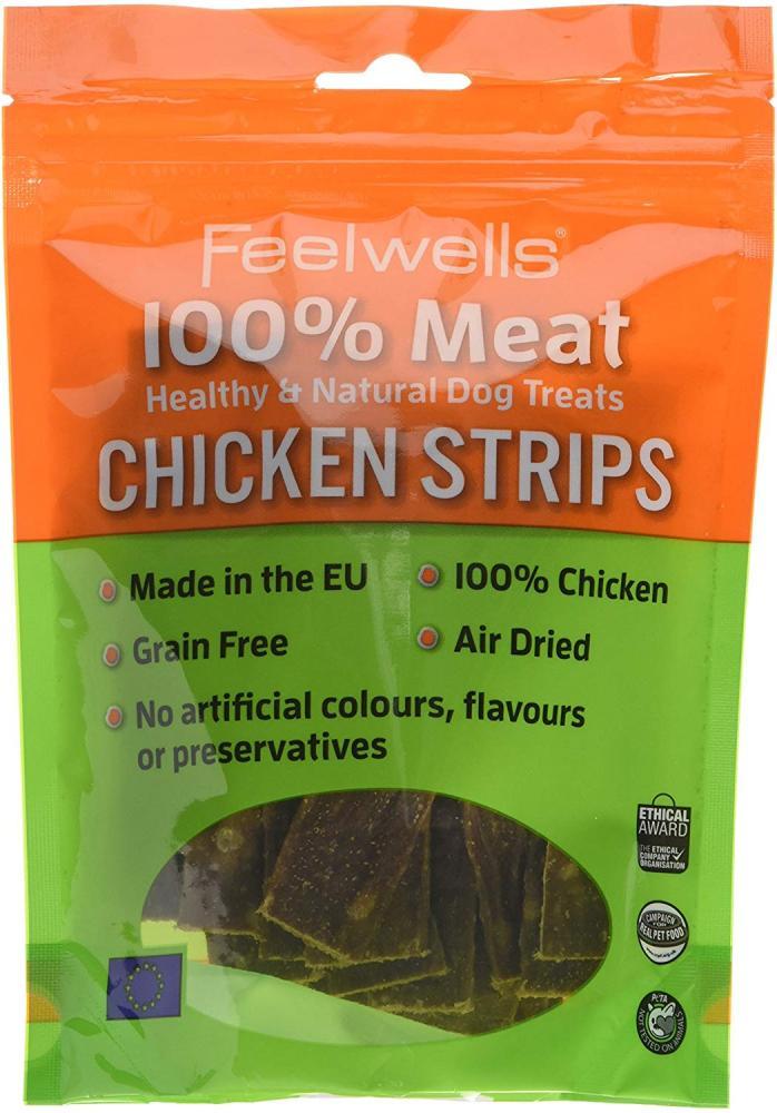 Feelwells Meat Treats Chicken Strips 100g