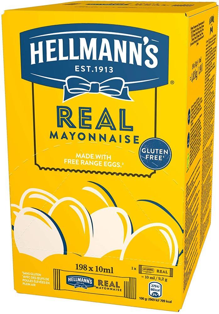 Hellmanns Real Mayonnaise Sachets 198 x 10ml