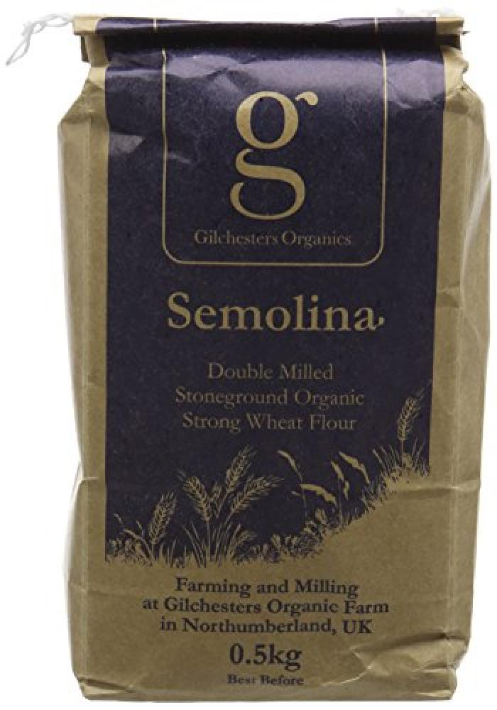 Gilchesters Organics Semolina Double Milled Stoneground Organic Strong Wheat Flour 500g