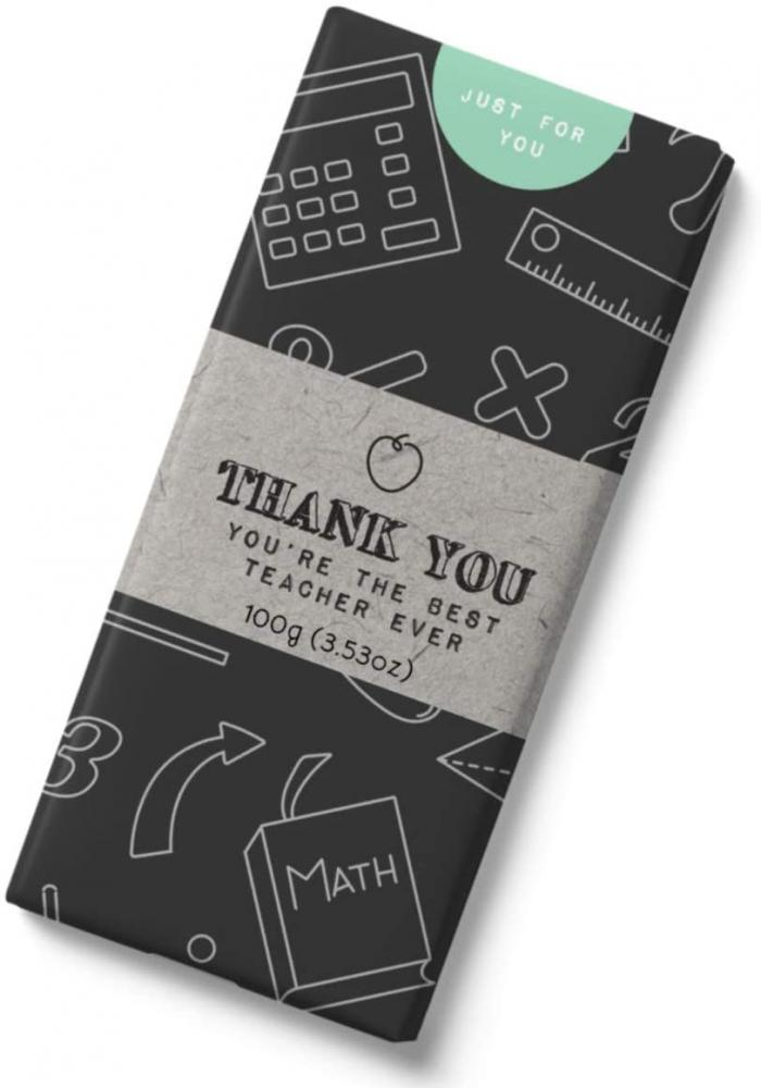 Just for You Message Bars Thank You Teacher Milk Chocolate Bar 100g